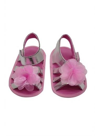 First Step Bebek Çiçekli Sandalet Gümüş-G-2080 Gümüş